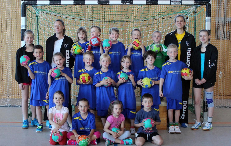 Hier werden die ersten Schritte in Richtung Handball gemacht