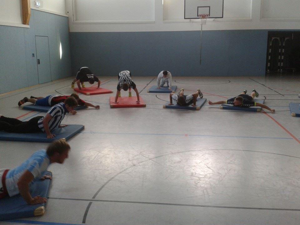 Trainingsspiel beim FC Bayern